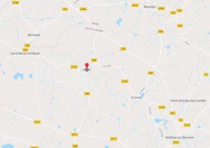 Carte montrant Jouac et ses environs